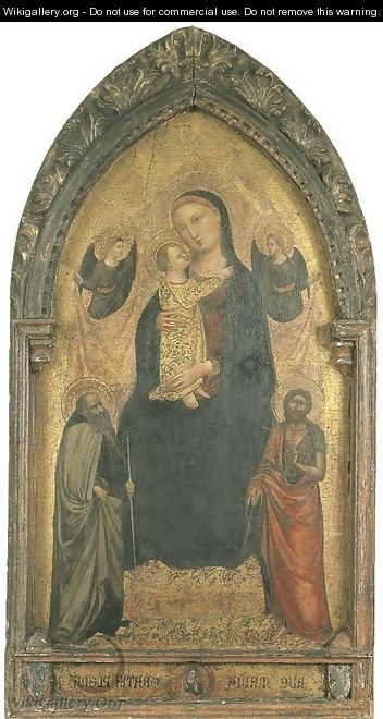 The Madonna and Child enthroned - Bicci Di Lorenzo