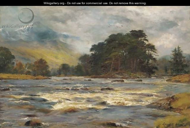 A Highland river landscape - Louis Bosworth Hurt