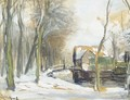 Wooded winter landscapes - Louis Apol