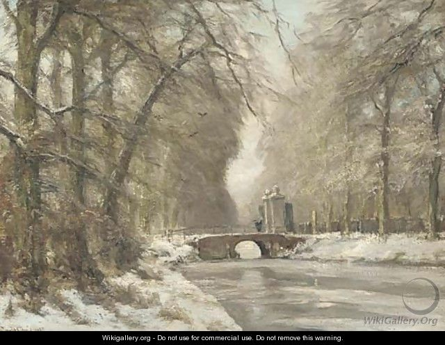 The entrance to Huis ten Bosch in winter - Louis Apol