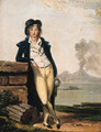 Portrait of a young man, full-length, with Mount Vesuvius beyond - Louis Gauffier