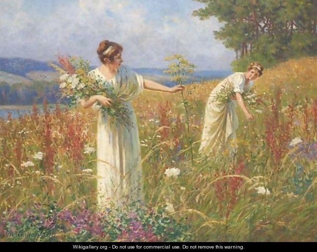 Picking Wildflowers - Leopold-Franz Kowalsky