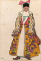 Costume Design for Moskva - Woman - Leon (Samoilovitch) Bakst