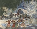 Dancers in the snow - Konstantin Alexeievitch Korovin