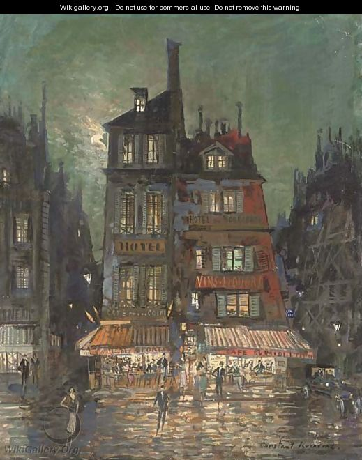 Before the Hotel Bourgondie, Paris - Konstantin Alexeievitch Korovin