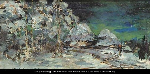 Winter Landscape at Night - Konstantin Alexeievitch Korovin