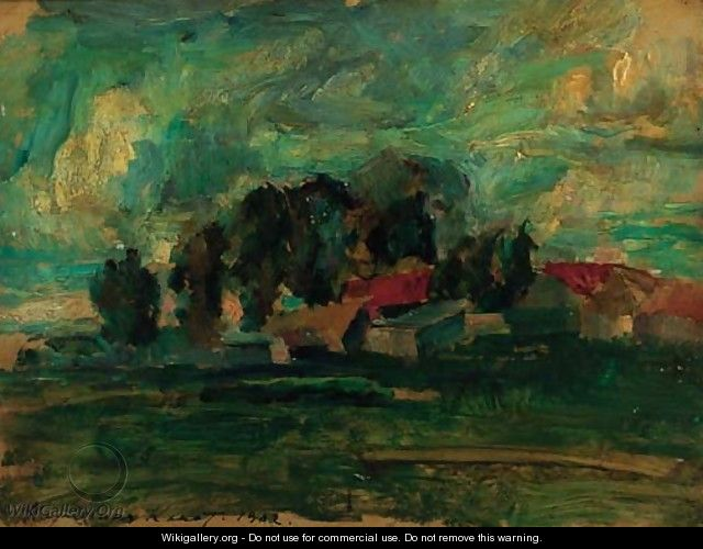 Landscape before the Storm - Konstantin Alexeievitch Korovin