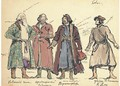 A group of costume designs for Khovanshchina Khovanskii - Konstantin Alexeievitch Korovin