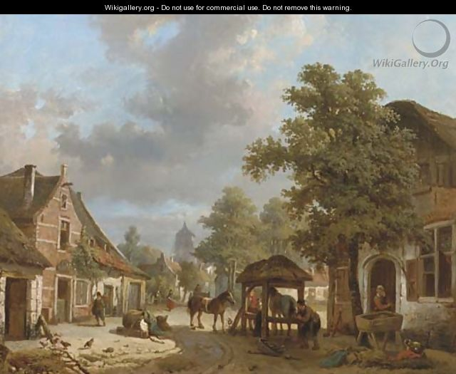 Setting the horseshoe a village in sunlight - Laurent Herman Redig