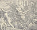 The Angel of the Lord defeating the armies of Sennacherib the Assyrian (II Chronicles XXXII21) - Julius Schnorr Von Carolsfeld