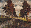 A Country Track lined with Poplars - Karl Heffner