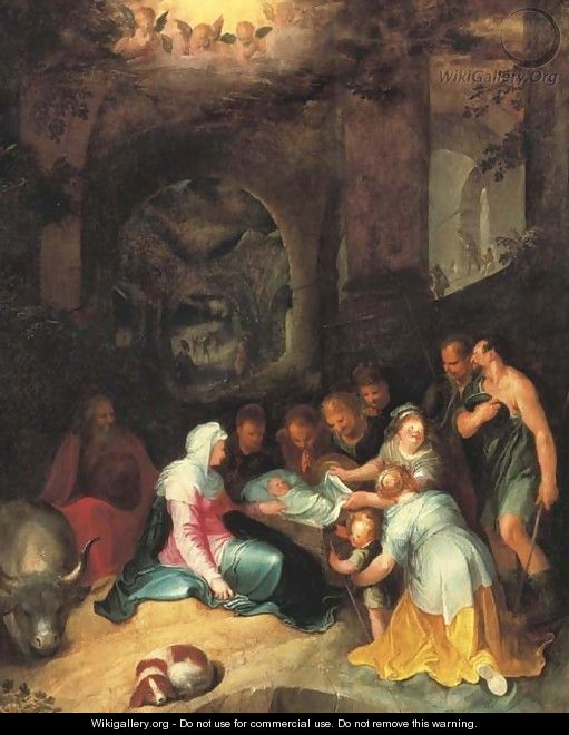 The Adoration of the Shepherds - Karel Van Mander