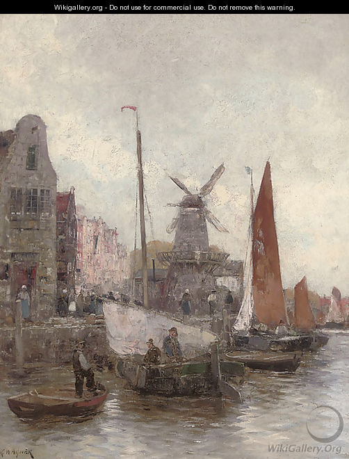 Vessels at a continental quay - Carl Wagner