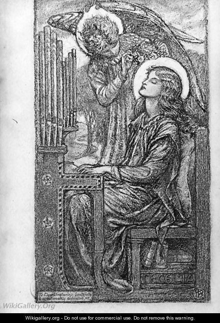 St.Cecilia playing the organ - Karl Parsons