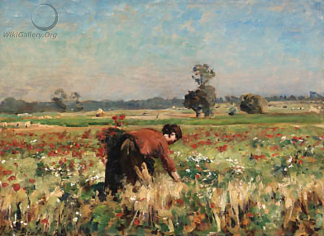 Le Pr fleuri Courrires (The Flowering Field in Courrires) - Jules (Adolphe Aime Louis) Breton