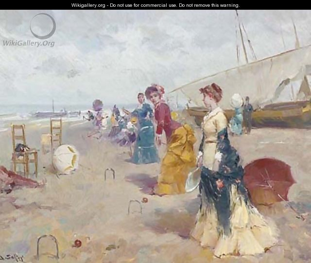 Croquet on the beach 2 - Joan Roig Soler