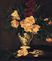 Summer Flowers in a glass Vase - Jules Felix Ragot