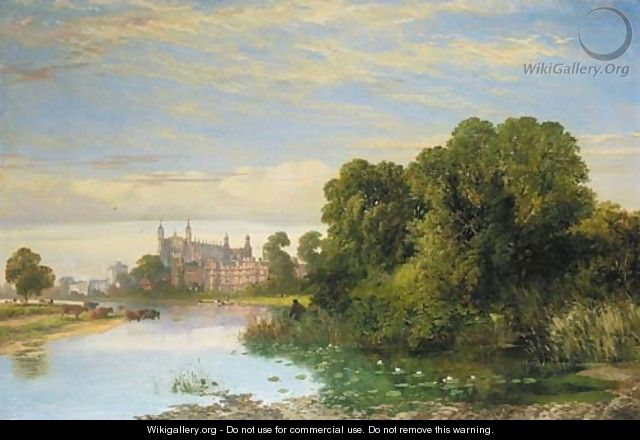 The College Chapel, Eton, from the Thames - Joseph Paul Pettitt