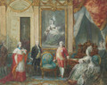 Louis XVI and his wife Marie Antoinette receiving a cardinal - Joseph Navlet