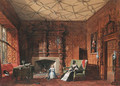 The South Drawing Room, Levens Hall, Westmorland - Joseph Nash