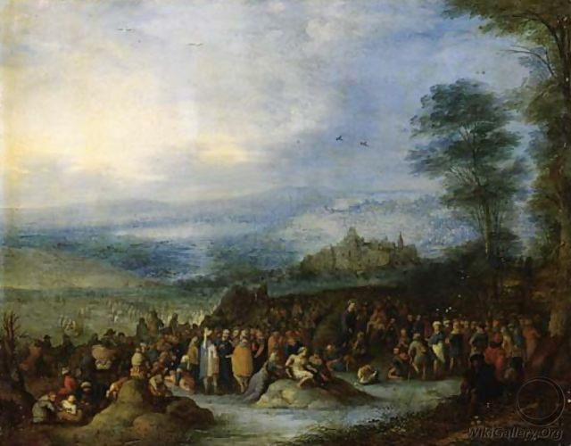 Christ preaching to the Multitude - Joseph van Bredael