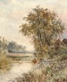 A cottage by a pond - Joseph Thors