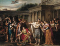 Priam leaving to beg Achilles for Hector's body - Joseph-Marie Vien