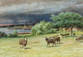 The Chicken House and A Coming Squall at Mattapoisett - James Brade Sword