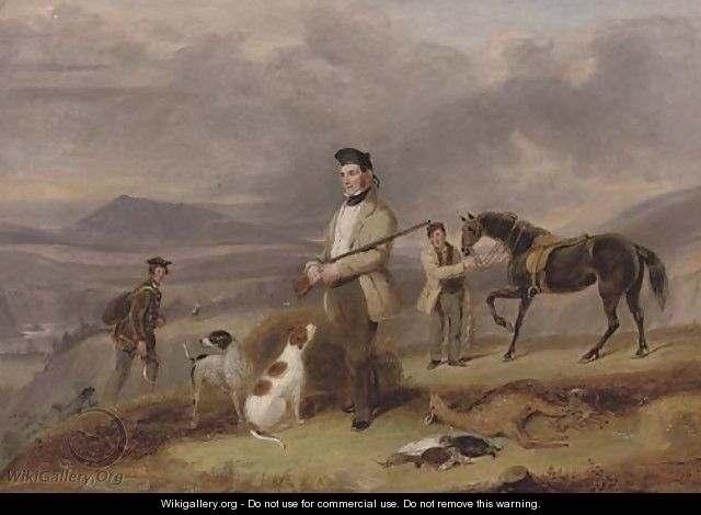 Mr Grant shooting near Rothes, on the Spey - James Forbes
