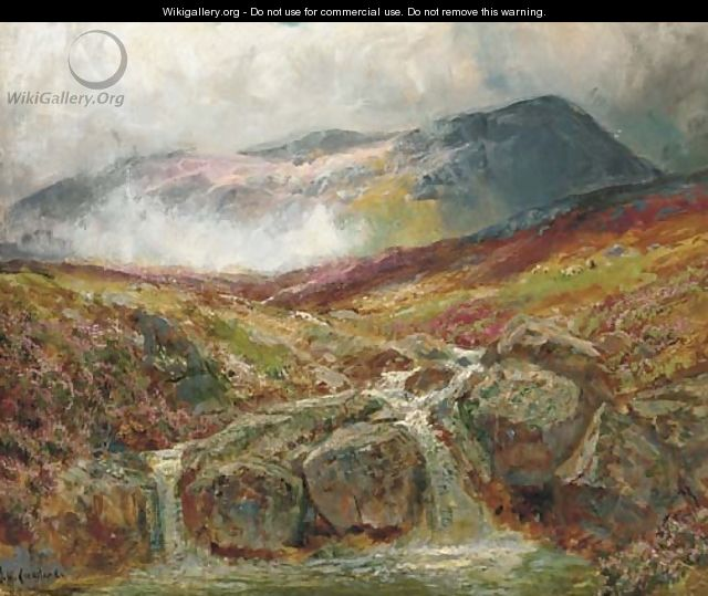 The mountain stream - James Henry Crossland
