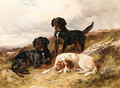 Three Setters in a Landscape - James Hardy Jnr