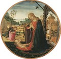 The Madonna and Child, the Youthful Saint John the Baptist and an Angel in a landscape beyond - Jacopo Del Sellaio
