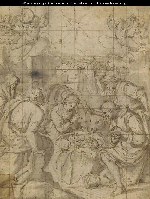 The Adoration of the Shepherds - (Jacopo Chimenti) Empoli