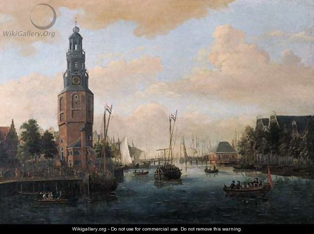 A view of the Oude Schans, Amsterdam - Jacobus Storck