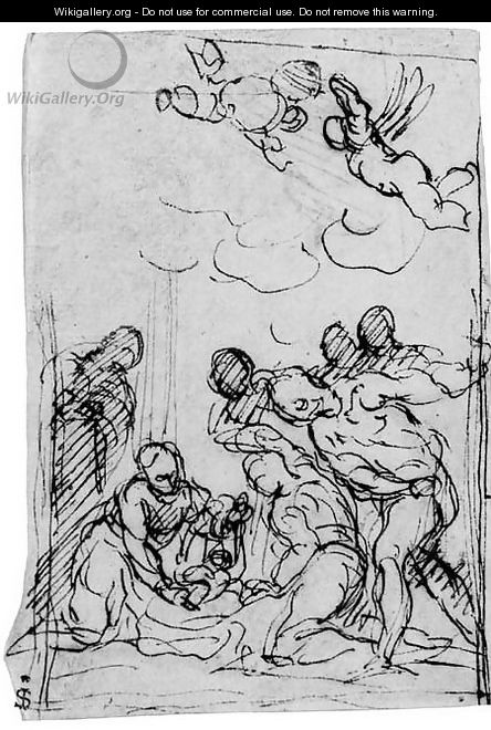 The Adoration of the Shepherds - Jacopo d