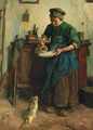 Feeding the cat - Jacques Abraham Zon