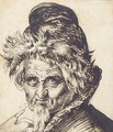 Head of a bearded man wearing a cap - Jacques de Gheyn