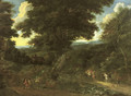A wooded landscape with travellers on horseback - Jacques d' Arthois