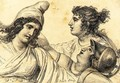 Paris with Juno and Minerva - Jacques Louis David