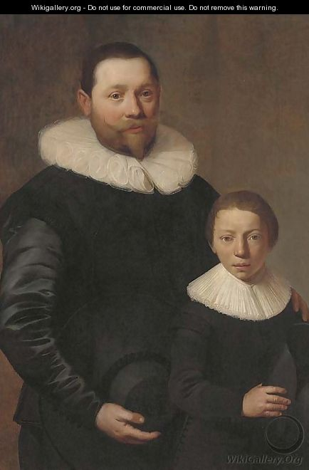 Double portrait of a father and son - Jacob Gerritsz. Cuyp