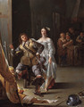 A Kortegaardje a woman flirting with an ensign in an inn - Jacob Duck