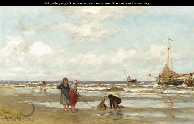 Shore at Scheveningen - Jacob Henricus Maris