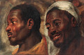 Head studies of two African men - Jacob Jordaens