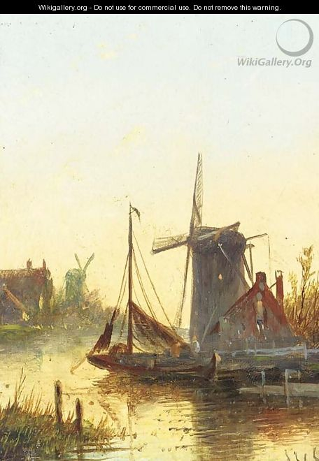 Early morning and sunset over Zaandam - Jan Jacob Coenraad Spohler