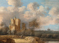 Landscape with a ruined castle and Haarlem in the distance - Anthony Jansz van der Croos