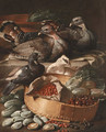 Turkeys and pigeons with cherries - Jacob van der (Giacomo da Castello) Kerckhoven