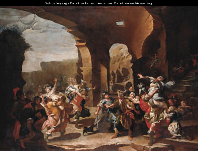 The Rape of the Sabine Women - Italian School