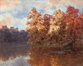 Autumn on the lake - Ivan Fedorovich Choultse