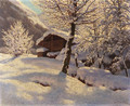 Country Cabin in heavy Snow - Ivan Fedorovich Choultse