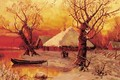 Winter - Lakeside Settlement at Sunset - Iulii Iul'evich (Julius) Klever
